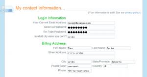画像: ユーザー情報の入力 - DreamHostの申し込み・契約方法
